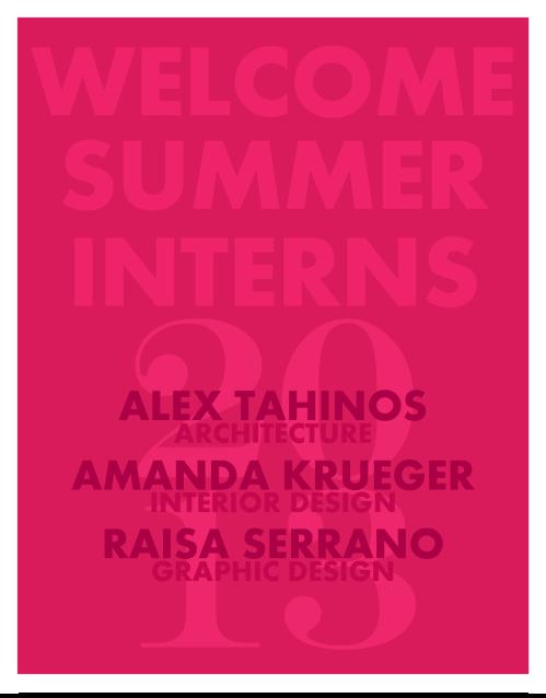 BAM Architecture Studio Summer 2013 Interns