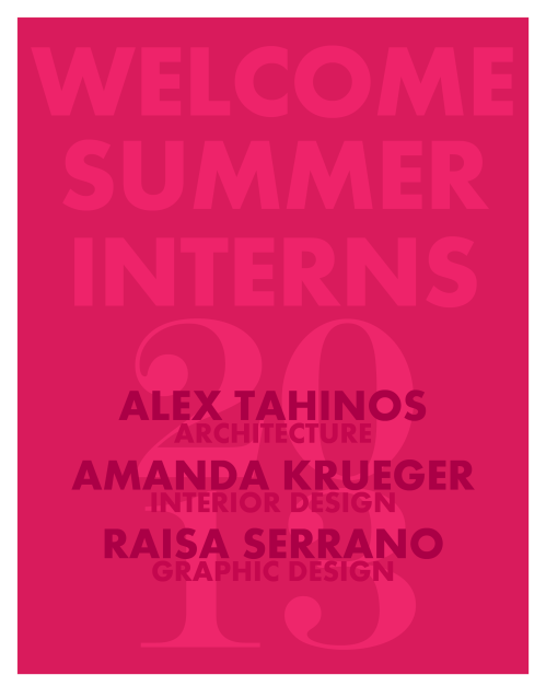 BAM Architecture Studio Summer 2013 Interns